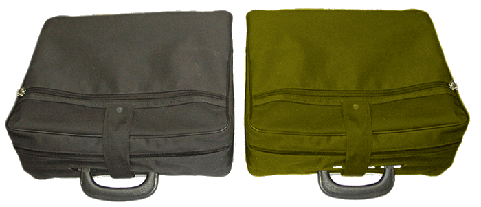 Choose a black or green canvas case.
